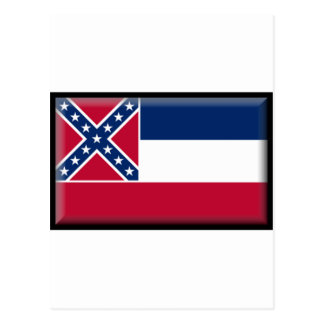 Carte Postale Drapeau du Mississippi