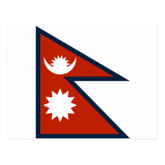 Carte Postale Drapeau du Népal