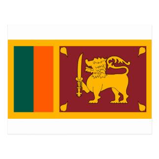 Carte Postale Drapeau du Sri Lanka