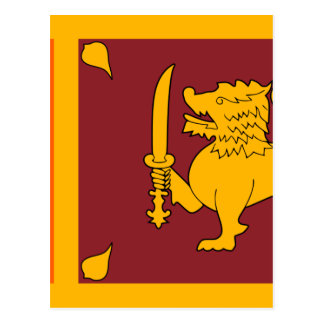 Carte Postale Drapeau du Sri Lanka (ශ්රීලංකාවේජාතිකකොඩිය)