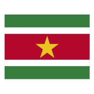 Carte Postale Drapeau du Surinam