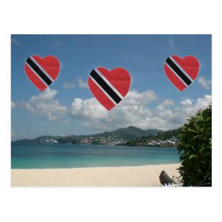 Carte Postale Drapeau du Trinidad-et-Tobago