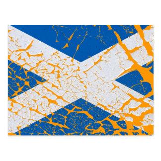 Carte Postale Drapeau écossais grunge