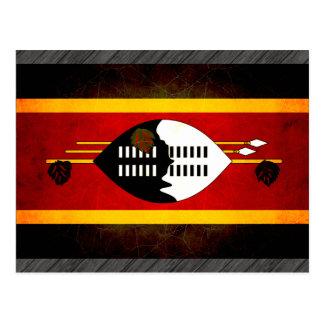 Carte Postale Drapeau énervé moderne de Swazi