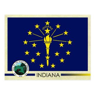 Carte Postale Drapeau et joint d'état de l'Indiana