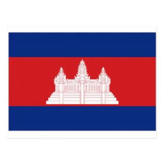 Carte Postale Drapeau national du Cambodge