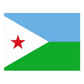 Carte Postale Drapeau national du monde de Djibouti