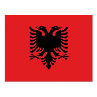 Carte Postale Drapeau national du monde de l'Albanie
