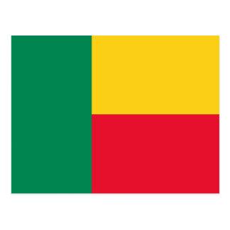 Carte Postale Drapeau national du monde du Bénin