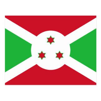 Carte Postale Drapeau national du monde du Burundi