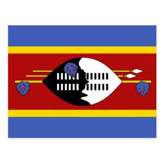 Carte Postale Drapeau national du monde du Souaziland