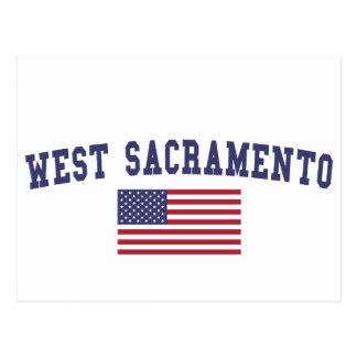 Carte Postale Drapeau occidental de Sacramento USA