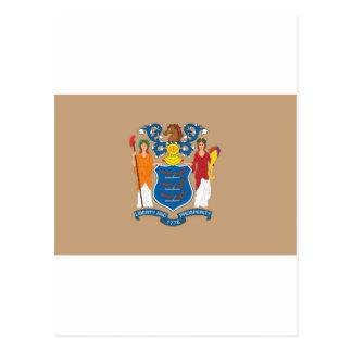 Carte Postale Drapeau officiel d'état de New Jersey