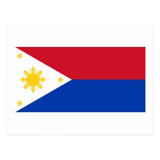 Carte Postale Drapeau philippin des îles philippines | Pinoy du