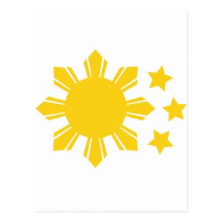 Carte Postale Drapeau philippin - fier d'être Pinoy !