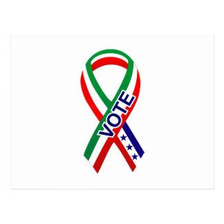 Carte Postale Drapeau Ribbon1 du Mexique
