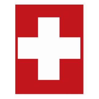 Carte Postale Drapeau suisse