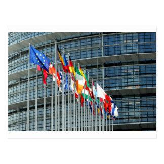 Carte Postale Drapeaux européens