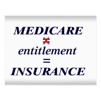 Carte Postale Droit d'Assurance-maladie pas