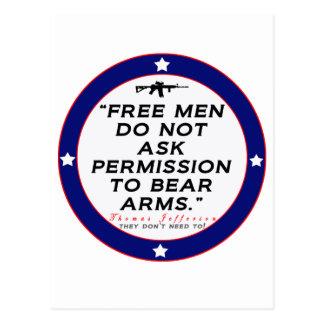Carte Postale Droit de soutenir des bras