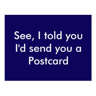 Carte postale drôle