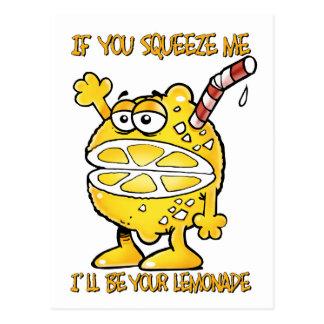 Carte Postale Drôle Citron-Si vous me serrez je serai votre…