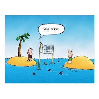 Carte postale drôle de bande dessinée de