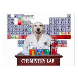 Carte postale drôle de professeur de chimie avec