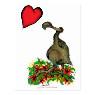 Carte Postale dronte élégante de l'amour des fernandes