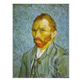 """Carte postale du """"autoportrait"""" de Vincent van"""