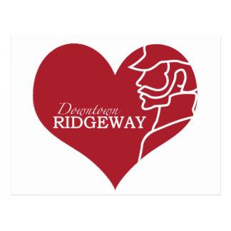 Carte postale du centre de Ridgeway d'amour
