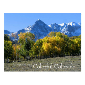 Carte postale du Colorado