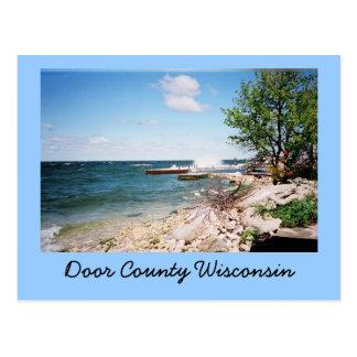 Carte postale du comté de Door le Wisconsin