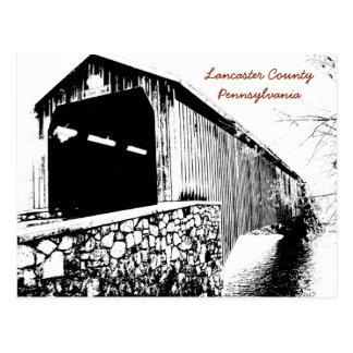 Carte postale du comté de Lancaster