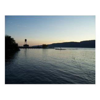 Carte postale du fleuve Hudson