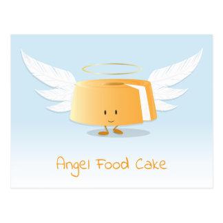 Carte postale du gâteau de nourriture d'ange  