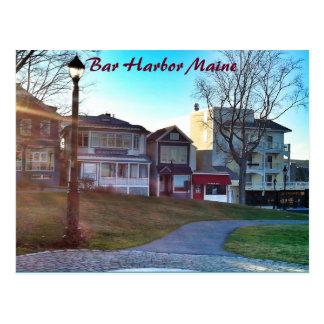 Carte postale du Maine de port de barre