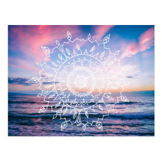Carte postale du mandala | de Boho d'océan