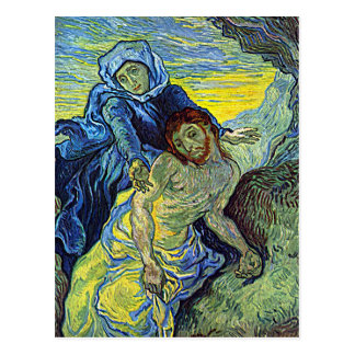 "Carte postale du Pieta de Van Gogh """""