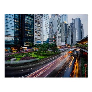 Carte postale du trafic de Hong Kong