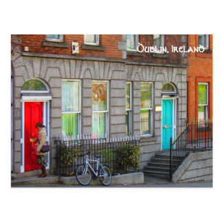 Carte Postale Dublin doors ~Dublin, Ireland