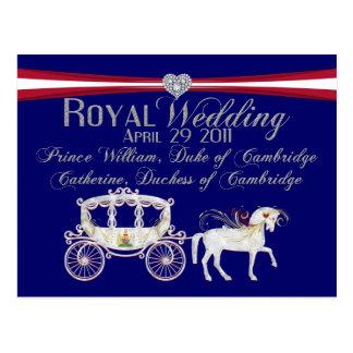 Carte Postale Duc de mariage et duchesse royaux de Cambridge