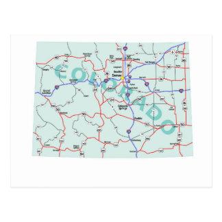 Carte postale d'un état à un autre de carte du