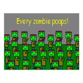 Carte Postale dunettes de chaque zombi