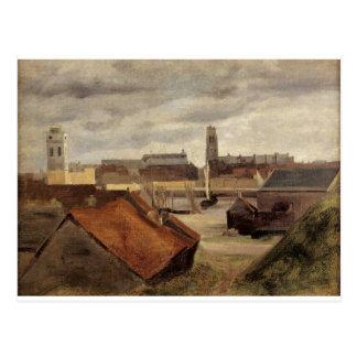 Carte Postale Dunkerque, les docks de pêche par Camille Corot