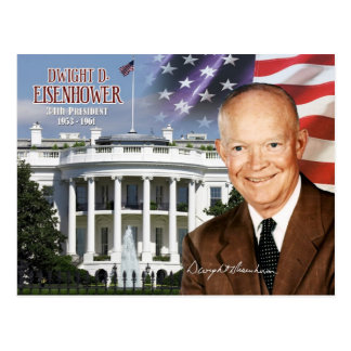 Carte Postale Dwight David Eisenhower - trente-quatrième
