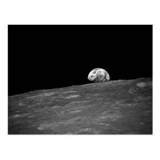 Carte Postale Earthrise de mission de lune d'Apollo 8