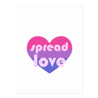 Carte Postale Écartez l'amour bisexuel