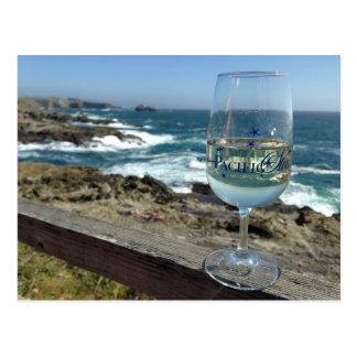 Carte Postale Échantillon de vin de l'océan pacifique