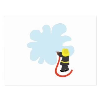 Carte Postale Éclaboussure de sapeur-pompier